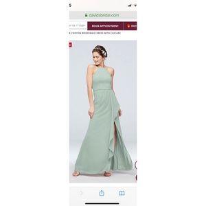 COPY - High-Neck Chiffon Bridesmaid Dress with Ca…